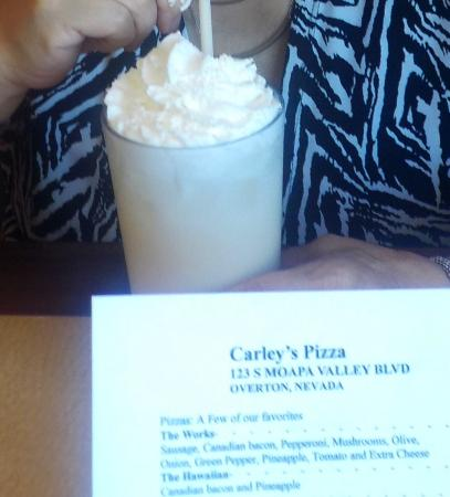 """Logandale, NV: Soda with a """"little"""" bit of whipped cream."""