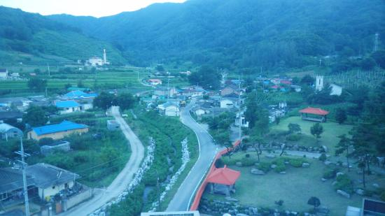 Chungju, Korea Południowa: 객실 창으로 보이는 풍경