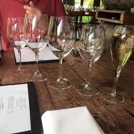 Milawa, Australia: Wine glasses