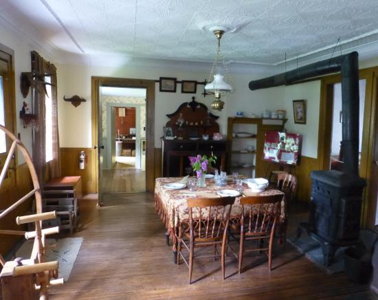 Madoc, Canada: inside the museum house (dining room)