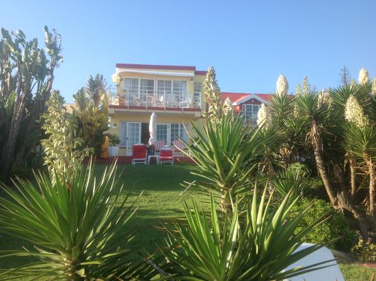 Haus am Strand: Blick vom Strand