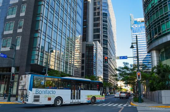bgc bus stop across the road great for trips to downtown makati rh tripadvisor com ph