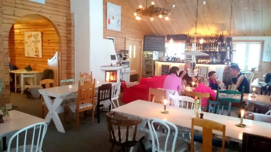 Sysslebäck, Szwecja: Ett av rummen i restaurangen, baren och spisen