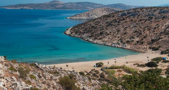 Irakleia, Greece: Livadi is Iraklia's largest beach and one of the most popular.