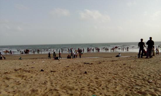 The Beach At Mandavi Palace Image