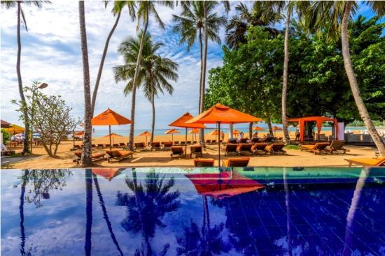 Calamander Unawatuna Beach : The Blu Pool located right on the beach