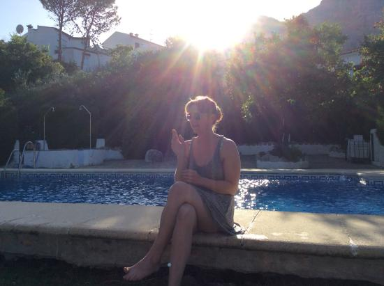 Montejaque, Spanje: By the pool