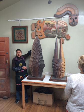 Urubamba, Peru: Marilu Behar, wife of Pablo Seminario, giving a tour