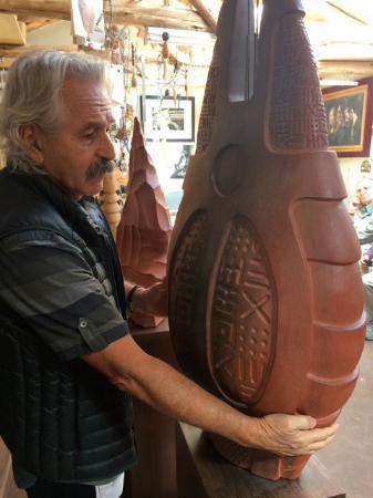 Urubamba, Peru: Pablo Seminario describing his new work