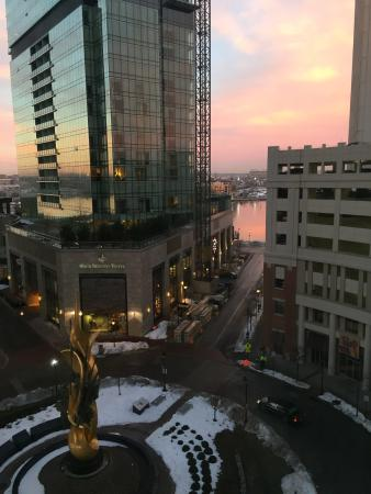Hilton Garden Inn Baltimore Inner Harbor : View from room and local points of interest
