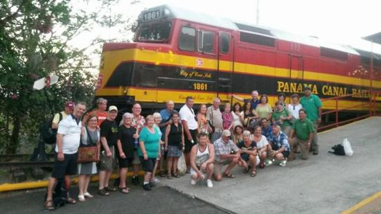 Chame, Panamá: Train Express tour group January 29, 2016