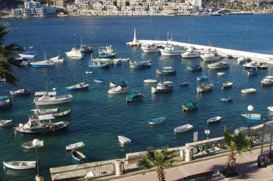 Xemxija, Malta: View from living room window by day