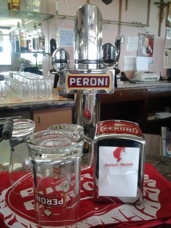 Castelnuovo di Porto, İtalya: Birra Peroni alla spina