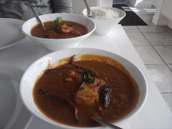Mount Juliet, TN: Chicken Chettinadu (front) Chicken Curry (back)