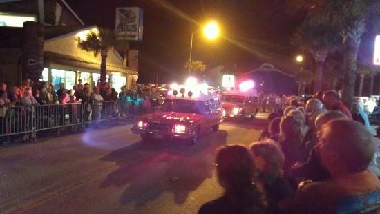 Coconut Palms Beach Resort 1: Parade for Mardi Gras and view from balcony
