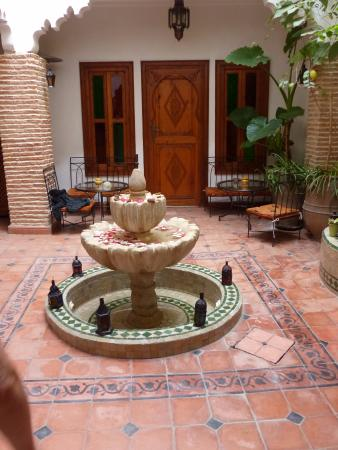 Aquarelle Riad: patio