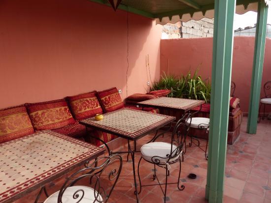 Aquarelle Riad: terrasse