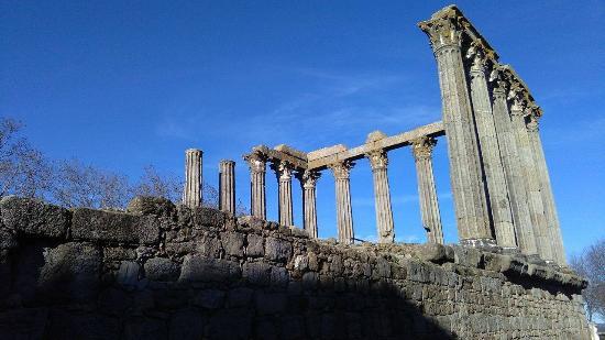 Templo Romano de Évora (Templo de Diana)-bild