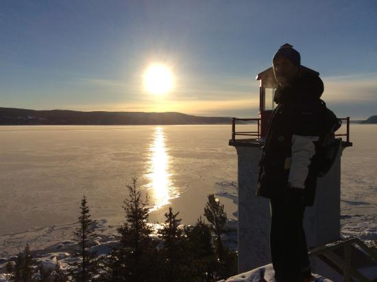 Sainte-Rose-du-Nord, แคนาดา: au bout de la rando du phare.