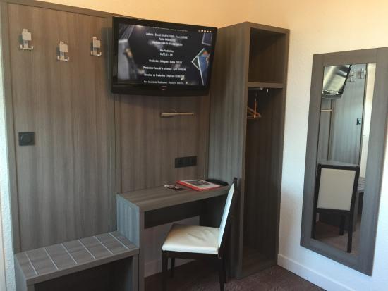 Flers, فرنسا: chambre de l'hotel le beverl'inn