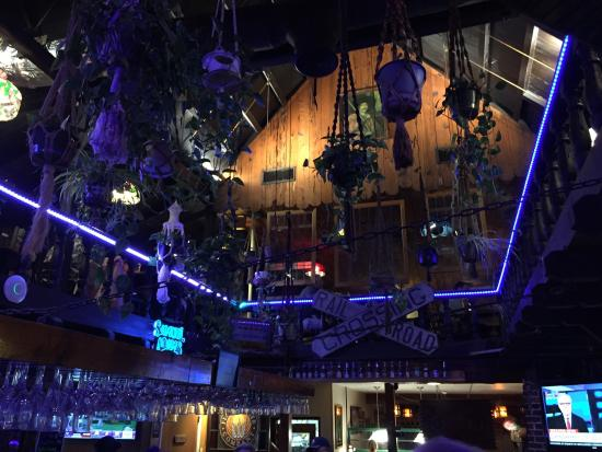 Rockledge, فلوريدا: Decorations over the bar Ashley's Incorporated
