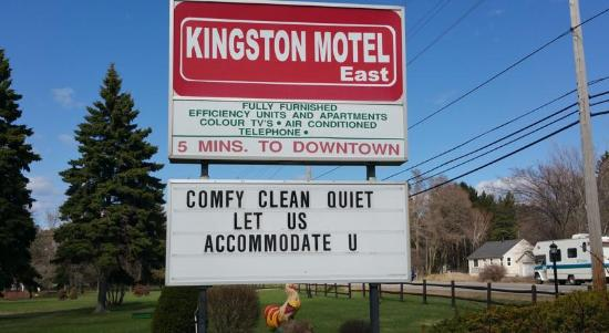 Kingston Motel East: Clean, Quiet, close to city location