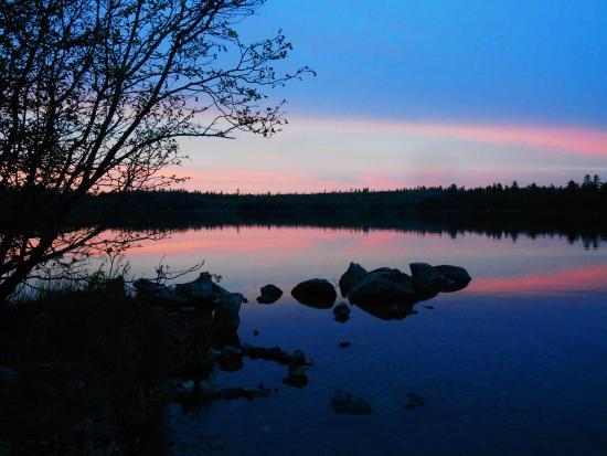 Ely, MN: One of our many beautiful sunsets.