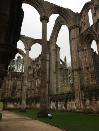 Fountains Abbey and Studley Royal Water Garden: Even on a cold drizzly day at the end of January this place is fantastic - a lovely walk through