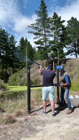 Hawke's Bay Region, Nueva Zelanda: Shooting at Hau Ora Clays