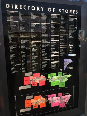 Fashion Show Directory Map Fashion Show - Fashion Show Mall