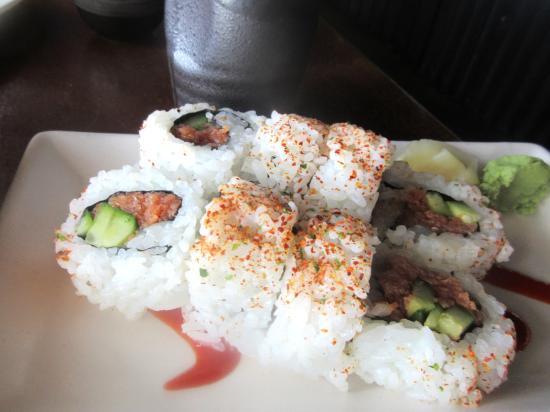 Angry Tuna Sushi Rolls, Aji Japanese Bistro, El Dorado Hills, Ca