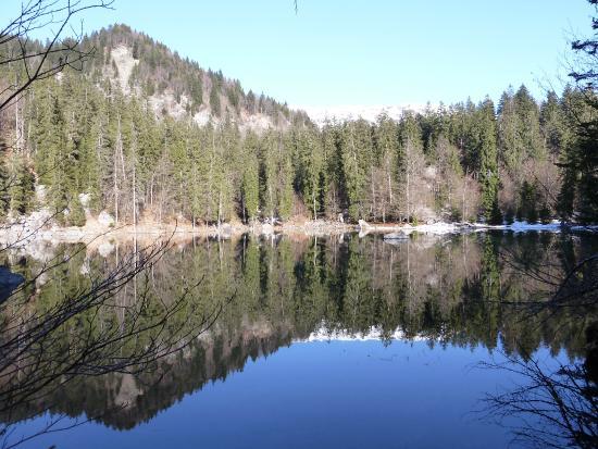 Passy, Γαλλία: lac vert l'hiver