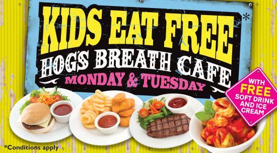Wantirna, Avustralya: Kids Eat Free
