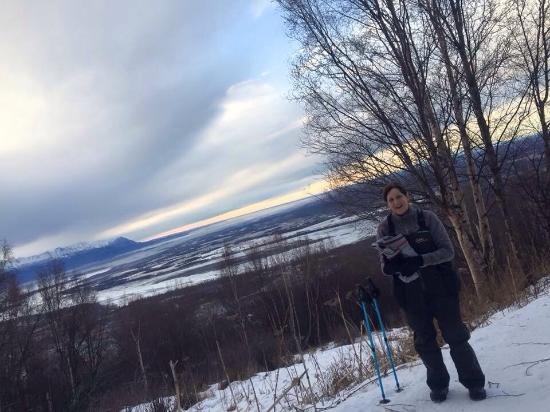 Palmer, AK: A perfect winter day hike.  Don't forget your ice grips!  Fairly aggressive hiking, but totally