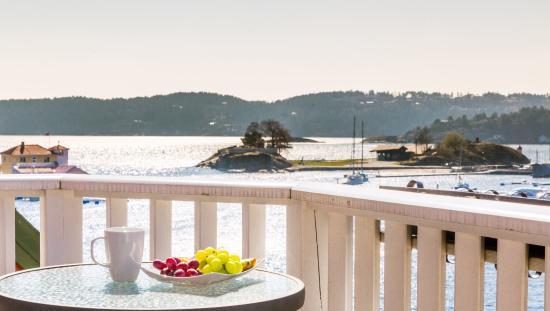 Kragero, Norvégia: utsikt fra Victoria Hotel på Gunnarsholmen