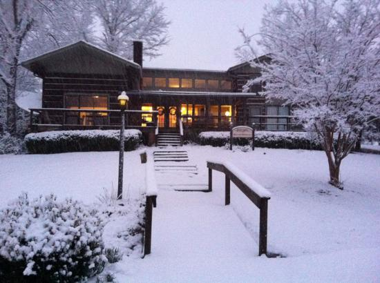 French Camp, MS: It's not often, but sometimes we get snow!