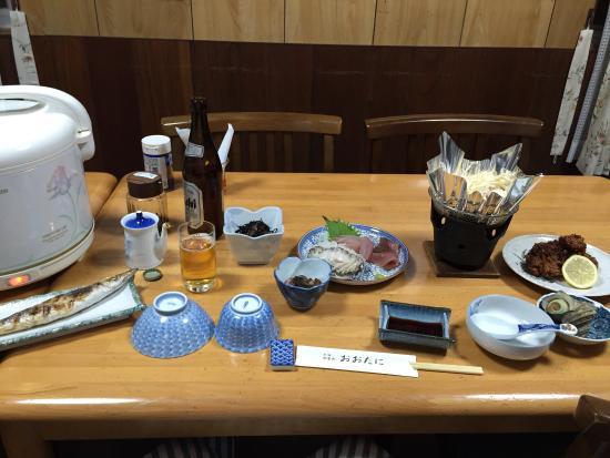 Kihoku-cho, Japón: 仕事でいったので、1人で泊まりました。 寂しかったですが、晩御飯の豪華なこと! コストパフォーマンスが◎ 朝ごはんも大満足でした。 ありがとうございました。次回は大学の同期性とみんなで泊まりた