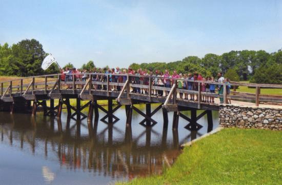 Montevallo, AL: our replica Concord Bridge is a great spot for photos