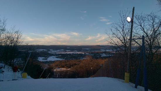 Carroll Valley, PA: The view from the top of the Blue Streak, dusk.