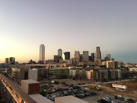 NYLO Dallas South Side: View from rooftop bar.