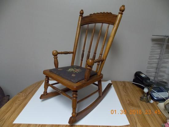 Antique Childs Rocking Chair Picture Of Wagon Wheel Antiques