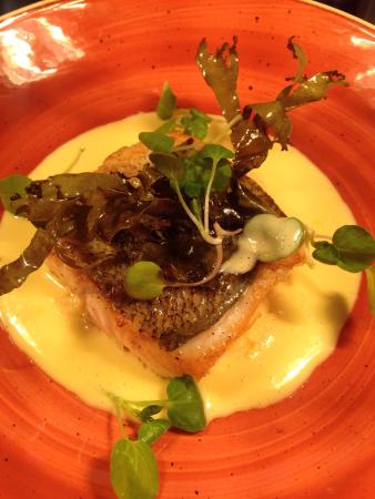 Banbridge, UK: Hake,cod and sea lettuce with lemon butter and cress