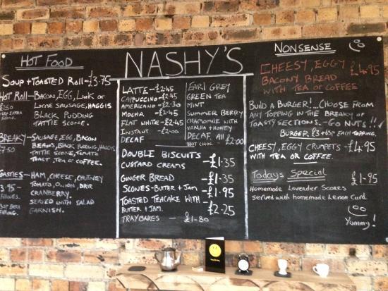 Cardrona, UK: Ever changing menu