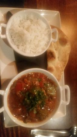 Keighley, UK: Fab starter and curry main