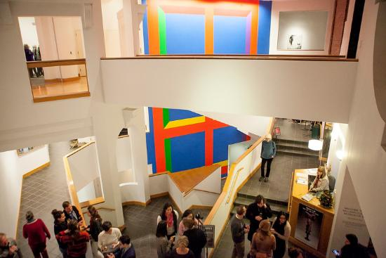 Williams College Museum of Art: The new Sol LeWitt in the atrium. Photo by Kate Drew Miller.