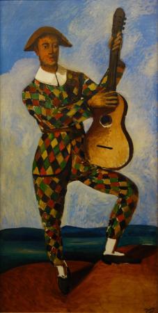 André Derain: Arlequin et Pierrot. Detail - 巴黎橘園美術館的圖片 ...