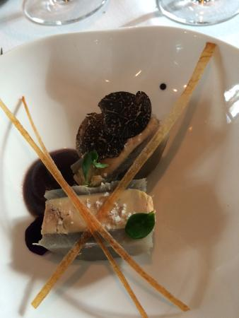 Arcangues, France: Foie y alcachofa ...