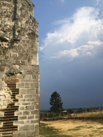 Zsámbék Premontre monastery church ruin