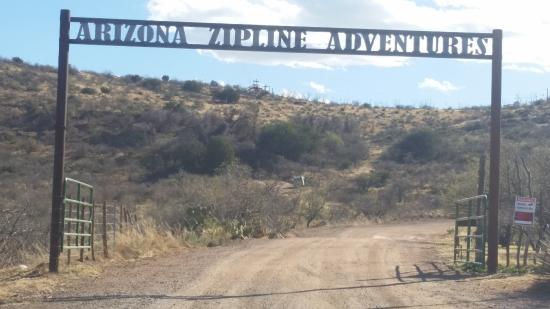 Oracle, AZ: Entrance to Zipline Adventures