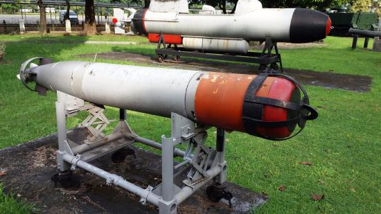 A Mk 44 Light Weight Torpedo of the Philippine Navy. Photo taken at the Armed Forces of the Phil